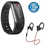New Smart Bracelet Waterproof Sport Watch You can view real-time physical activity through mobile applications, monitoring the effect of walking and running and you can identify more sport through the clouds. Captcha bracelet can automatically determ...