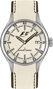 JACQUES LEMANS 'Monza' F-5037C - Reloj de mujer de cuarzo, correa de piel color varios colores de Jacques Lemans