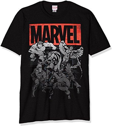 MARVEL Collective, Camiseta para Hombre, Negro, S
