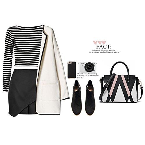Sacchetti eleganti in cuoio Vegan per Yoome Borse eleganti per le donne Borse per i portafogli per colleghi - L.Grey Nero