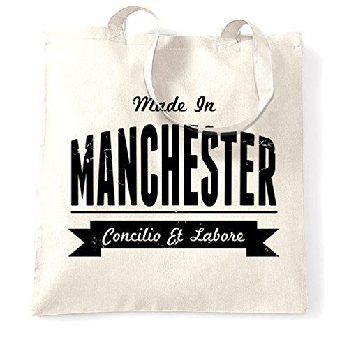 Realizzata Nel Manchester Football Pride Museum Heaton John Tote Bag Invecchiata Bianca