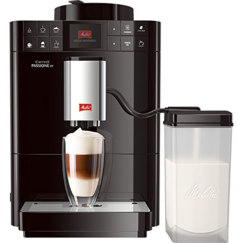 Melitta Caffeo Passione OT F531-102, Kaffeevollautomat mit Milchbehälter, One Touch Funktion,...