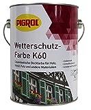 Pigrol Wetterschutzfarbe K60 - 2,5L - dunkelbraun Holzfarbe Deckfarbe