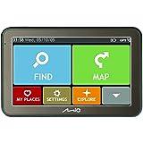 """MIO Spirit 7500 LM Navigationsgerät mit 5"""" Touchscreen, Lebenslangen Kartenupdates, Find My Car, IQ Routes, Parkhilfe, Spurführung, Ansage von Straßennamen uvm. - Westeuropa"""