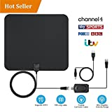 TV Aerial HDTV antenna Amplified Indoor TV Aerial 50 Miles Digital HDTV Indoor
