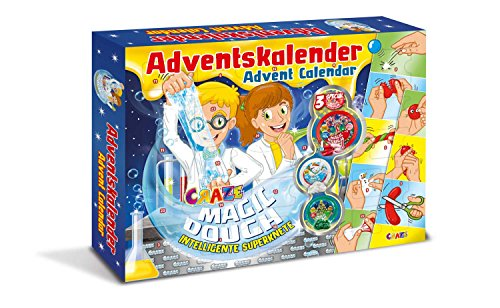 Craze 15049 - Adventskalender Magic Dough - Intelligente Superknete, BPA- und glutenfrei