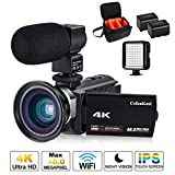 Videokamera, 4K Camcorder Cofunkool 48MP Ultra HD WiFi IPS Touchscreen...