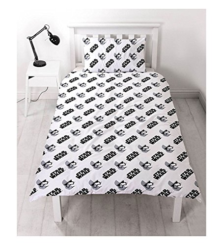 Set Quilt Wars Star (Star Wars The Force Wecken Single wendbar Rotary Kinder Bettwäsche Set Kissen, Star Wars Awaken, Einzelbett)