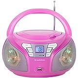 AudioSonic CD-1560 - Radio estéreo, color rosa