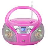 AudioSonic CD-1560 Radio Stereo, Rosa