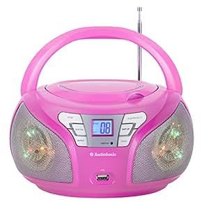 AudioSonic CD-1560 Radio Stereo, Rosa