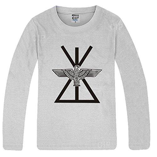 BOMOVO Herren Langarmshirt Shaped Fashion Long Sleeve Tee Rechts Zhilong Grau