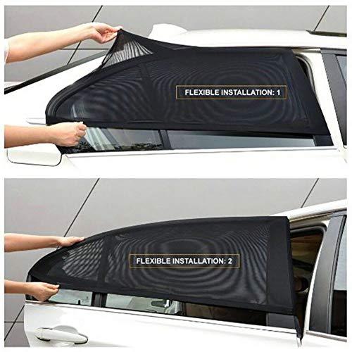 PoeHXtyy 2 STÜCKE Universal Auto Heckscheibe Sonnenschutz Mesh Cover Visier Shield Sonnenschutz UV Schützen Für Autos LKW SUV