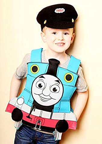 Thomas The Tank Engine Tabard Fancy dress costume 3/5 years with hat VMC