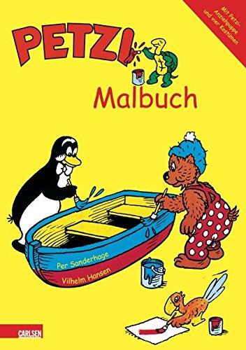 Petzi Malbuch: Mit Petzi-Anziehpuppe und vier Kostümen (zum ausschneiden)
