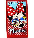 Unbekannt Badetuch / Strandtuch -  Disney Minnie Mouse - Sonnenbrille  - 70 cm * 140 cm - Frottee / Velours - 100 % Baumwolle - Handtuch - Mädchen & Jungen - 70x140 f..