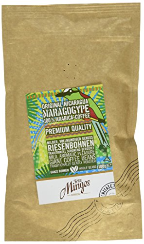 Fritz Minges Rarität Nicaragua Maragogype - ganze Bohne, 5er Pack (5 x 100 g)