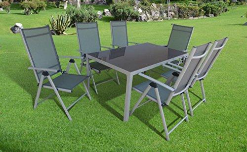 """7-teilige absolut wetterfeste Gartenmöbelgruppe """"Star"""", Aluminium Textilen, aus dem Hause Siena Garden – ICHWILLGARTENMÖBEL"""