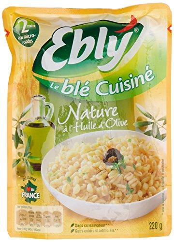 EBLY Blé Cuisiné Nature à l'huile d'olive 220 g - Lot de 6