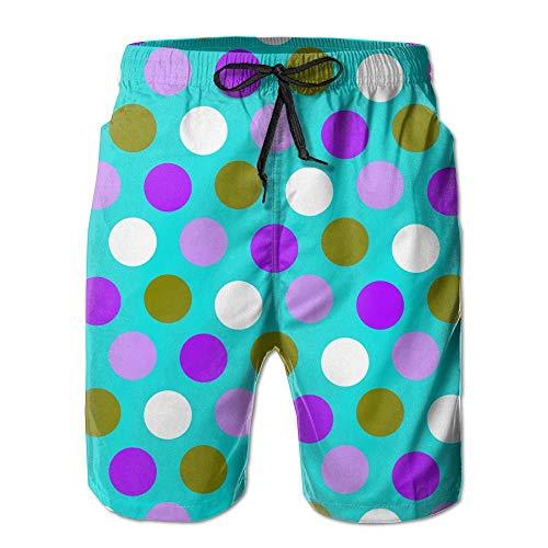 artyly Blaugrün blau und lila Fenster Sommer Anzug Herren Strandhose mit Taschen, Größe M (Mit Fenster Anzug Tasche)