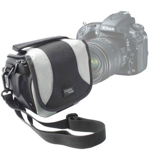 Etui de transport + lanière réglable pour appareil photo Reflex / SLR Nikon D800, D600, D5200 et D7100 boitier nu par DURAGADGET