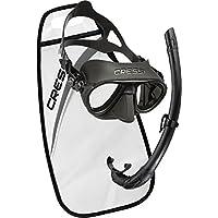 Cressi Calibro + Corsica Packs de Snorkel, Unisex Adulto, Negro