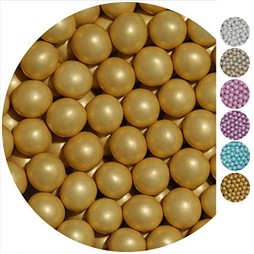 py Schokoperlen Schokokugeln Gold Perlglanz Gastgeschenke Hochzeit Hochzeitsmandeln Zuckermandeln Schokomandeln Candy Bar Bonbons Schokotafeln Dragees Taufmandeln Bonboniere ()