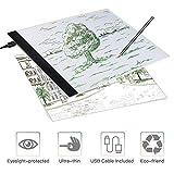 SAMTIAN Tavoletta luminosa, Light Board Tracing Light Box A4 LED Light Pad di Disegno con Cavo USB,Tavolette da Disegno per Gli Artisti, Disegno, Animazione, Abbozzare, Progettazione (LB-A4 lite )