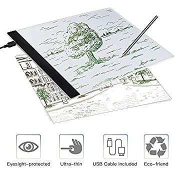 Clipboard Aaaj-a4 Led Stencil Board Light Box Artist Tracing Drawing Copy Plate Table Gift