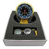 Dailyinshop 4-in-1 Multifunktions Höhenmesser Barometer mit Kompass Thermometer für Outdoor (Farbe: Gelb & Schwarz)