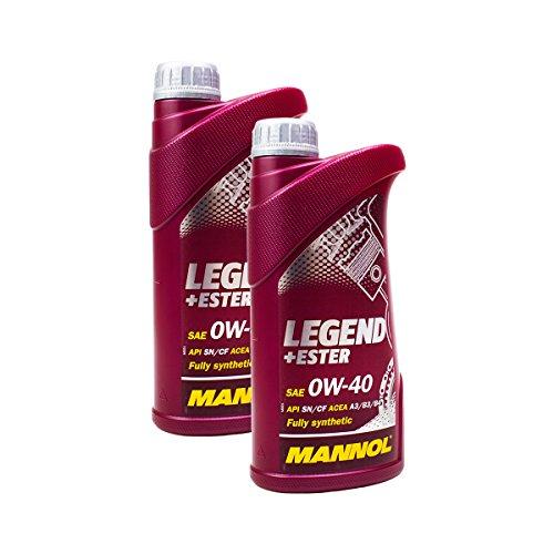 Preisvergleich Produktbild 2x MANNOL MN7901-1 Legend+Ester 0W-40 Motoröl API SN/CF 1L