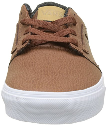 Vans Chapman Stripe Leather, Sneaker Uomo Marrone (H17 Leather)