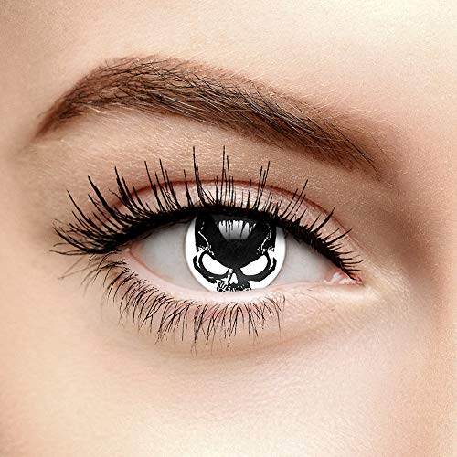 EDIT 1 Jahr Farbige Kontaktlinsen Ohne Stärke (Skull - Totenkopf)