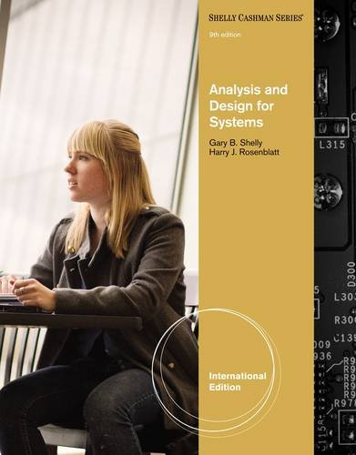 Analysis and Design for Systems (Shelly Cashman Series)