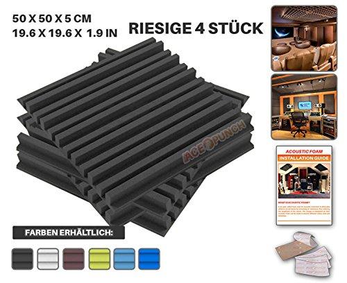 ace-punch-4-stucke-schwarz-metro-streifen-akustikschaumstoff-dammung-mit-freien-befestigungslaschen-