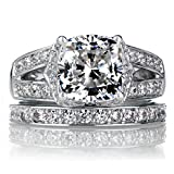 2,70 Ct cushioncut Moissanite diamantes anillo de...