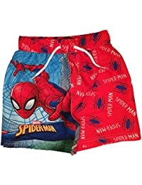 Spider-man Boys Spiderman Swim Shorts Ages 3 To 10 Years