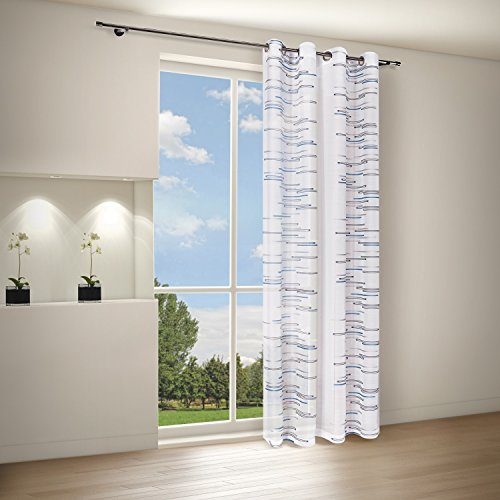 Tenda/tenda/tenda zedena/b/h: 140 x 245 cm/semi trasparente qualità blu