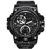 Rosennie Herren Sport Smartwatch Herren Sportuhr LED Armbanduhr mit Digital Anzeige Armbanduhren Männer Jungen Sportuhr Militärische Sportuhr Mode Wasserdichte Digitaluhr