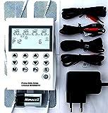 TENS-Gerät 4 Kanal EMS-Gerät 220 Volt Reizstrom-Gerät 50 Programme Muskelstimulator Schmerztherapie-Gerät Elektrotherapie Muskelaufbau-Gerät Muskelstimulations-Gerät Nervenstimulations-Gerät