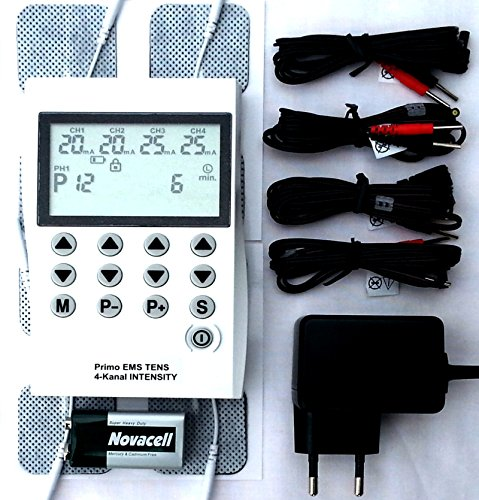 4 Kanal Tens Ems Gerät 220 Volt Reizstrom 50 Programme Muskelstimulator Schmerztherapie Gerät Elektrotherapie Muskelaufbau Muskelstimulation Nervenstimulation