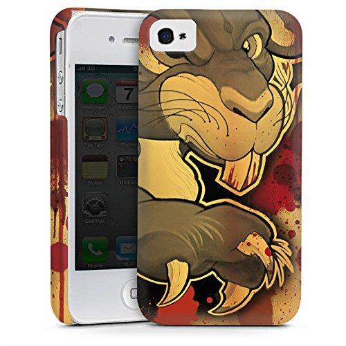 Apple iPhone 5s Housse étui coque protection Tatouage Méchant Lapin Cas Premium mat