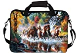 """Snoogg Abstract Art Of Horse 10"""" 10.5"""" 10.6"""" inch Laptop Notebook SlipCase With Shoulder Strap Handle Sleeve Soft Case With Shoulder Strap Handle Carrying Case With Shoulder Strap Handle for Macbook Pro Acer Asus Dell Hp Sony Toshiba Amazon Rs. 499.00"""