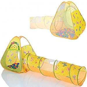 Tente de jeu enfant Pop Up BUTTERFLY avec tunnel et 100 balles pour de piscine à balles