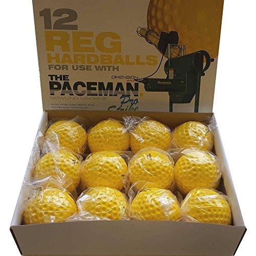 Paceman Cricket-/Bowling Reg (hart), Gelb, 12 Stück