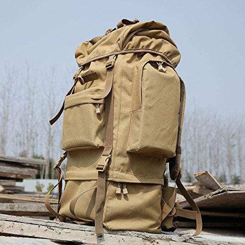 GOUQIN Outdoor Rucksack Klassische Mode Maximale Kapazität Von Reisen Zu Fuß Klettern Rucksäcke Taschen Camping Paket Braun