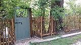 Zaunlatten Haselnuss 80 x 5 cm / 1 STK. - Natur Zaunbretter Staketen Latten zur Gartengestaltung, Zaunbau oder als Wand und Decken Verkleidung