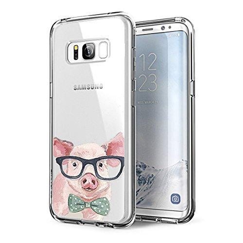 Preisvergleich Produktbild Samsung Galaxy S7 Hülle Silikon,Caler Transparent original zeichen bumper crystal TPU case extra farbig glitzer game klar komplett matt mit muster motiv rutschfest slim spiegel sommer Silikon Silikon ultra dünn handyhülle vorne und hinten durchsichtig marmor damen tiere panzerglas blumen blitz figur für Samsung Galaxy S7 Hülle Silikon (Schwein)