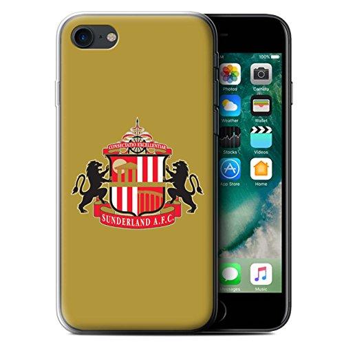 Offiziell Sunderland AFC Hülle / Gel TPU Case für Apple iPhone 7 / Rot/Schwarz Muster / SAFC Fußball Crest Kollektion Gold