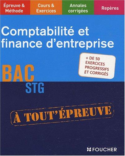 Comptabilité et finance d'entreprise, BAC STG